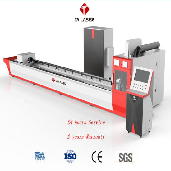 China Factory 1000W CNC Fiber Laser Cutting Machine for Cutting Carbon Steel Stainless Steel Galvanized Steel Alu Copper Metal Pipe and Tube