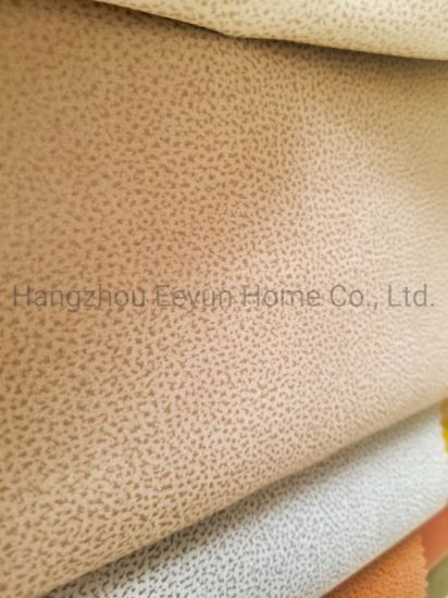 100%Polyester Upholstery Fabric PU Leather Yarn-Dyed Fabric for Sofa Curtain Furniture Decoration