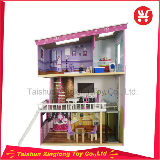 New Style of Three Layers of Wooden Doll House pictures & photos