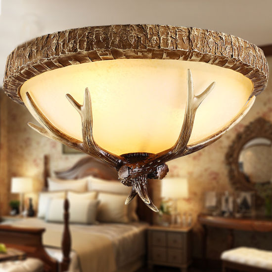 China American Vintage Style Resin Antler Chandelier Ceiling Deer Horn Pendant Lights Wh Ac 32 China Ceiling Led Light Flower Ceiling Light Modern