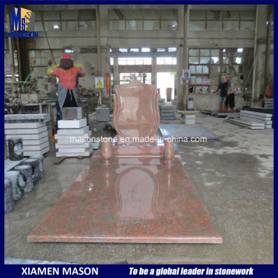 Western Style Granite Hungary Tombstone for Sale