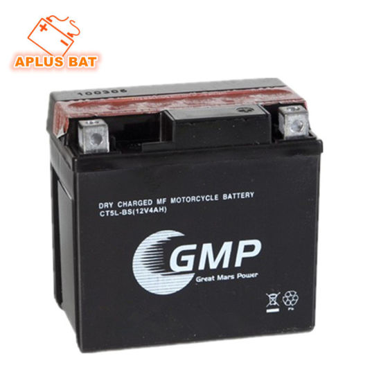 Good Selling 12V 4ah Motorcycle Battery with Acid Bottle Ytx5l-BS pictures & photos