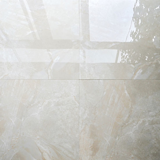 China Cheap Hot Sale Milan Vitrified Off White Ceramic Floor Tile