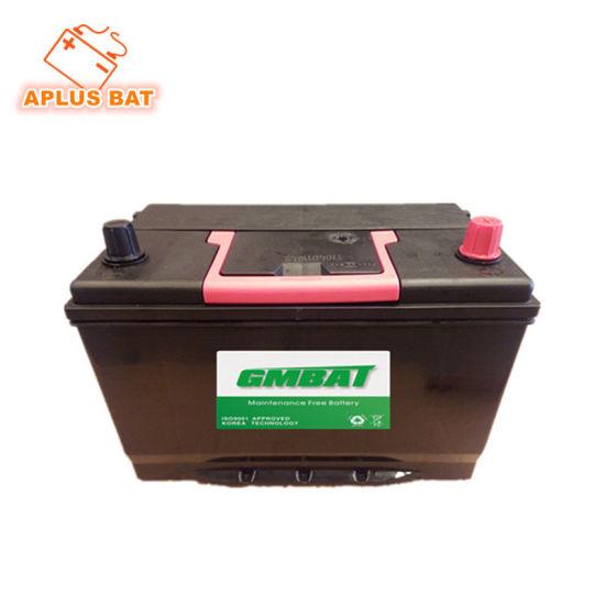 Lead Acid Rechargeable No Maintenance Car Battery 12V80ah 95D31L Nx120-7