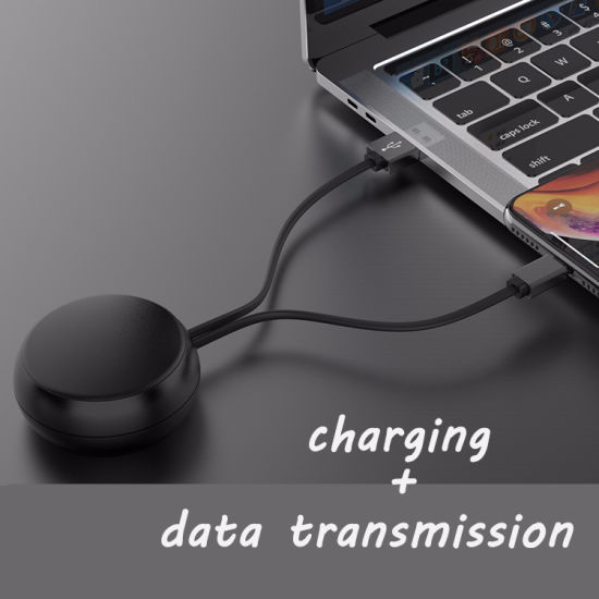 2019 High Quality Logo Customized Adjustable Cable Retractable USB Cable Sync Data Charging Cable