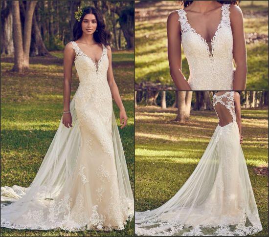 Lace Bridal Wedding Gown Custom Mermaid Lace Mermaid Wedding Dresses A8499