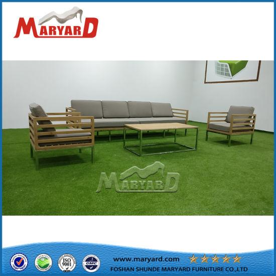 Outdoor Quick Dry Foam Cushion Teak Sofa Set