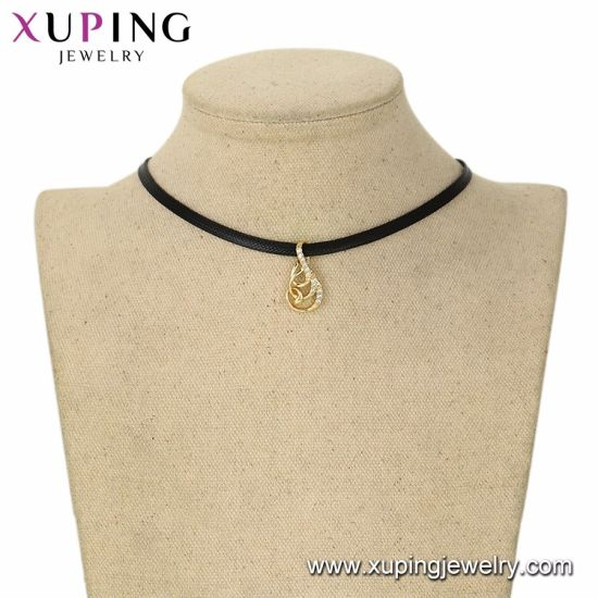 44550 Fashion Cool 14K Gold-Plated Human -Designed Alloy Copper Imitation Jewelry Pendant Necklace pictures & photos