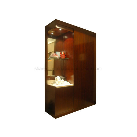 Hotel Bedroom Furniture Cherry Wood Wardrobe With Mini Bar Sw 02