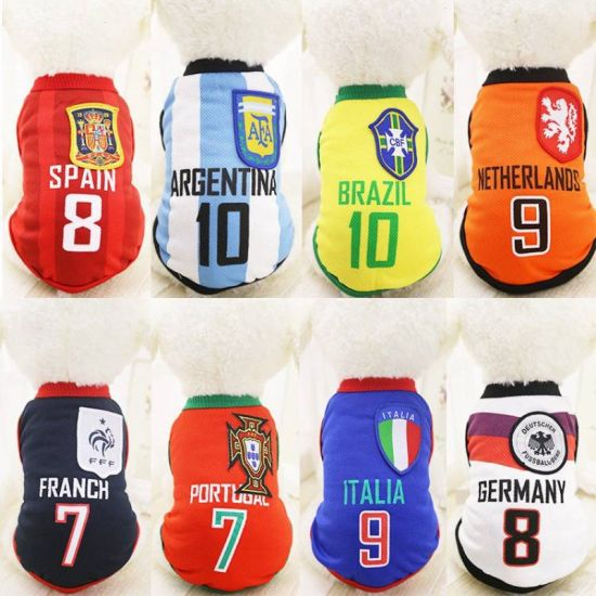 6f6c5368a Sports Dog Vest Cat Shirt Pet Clothing Summer Cotton Sweatshirt Football  World Cup Jersey Dog Clothes for Small Medium Large Dog