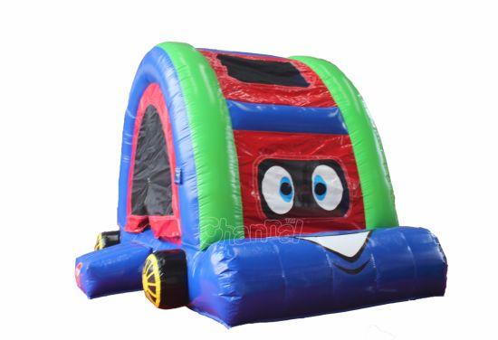 Pink Cartoon Car Inflatable Jumping Castle for Kids Chb700 pictures & photos