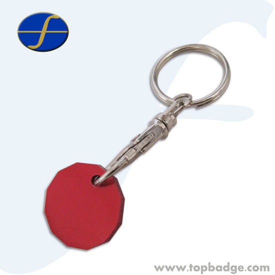 High Quality Different Design Custom Aluminum Keychain Trolley Coin (FTTR2324)