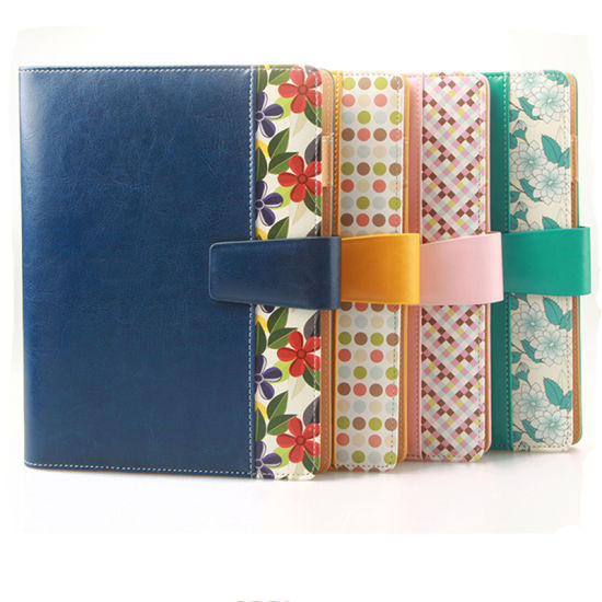 china cheap pretty a5 leather printing loose leaf ring binder