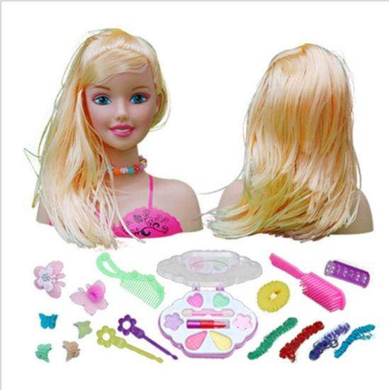 New Popular Plastic Doll Styling Head-Blond Toy