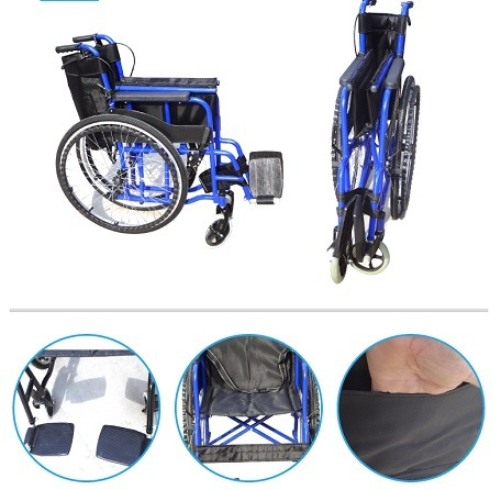 Top Sale Cheap Handicapped Manual Steel Wheelchair for Disabled