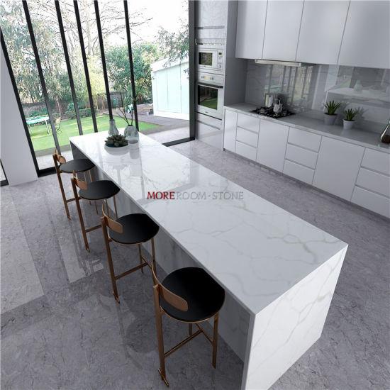 Fine Engineered Stone Kitchen Countertop Calacatta White Marble Quartz Stone Slab Machost Co Dining Chair Design Ideas Machostcouk