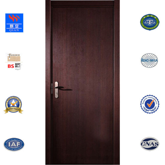 China Manufactory Customized Interior Fire Rated Wooden Door Fd Vv