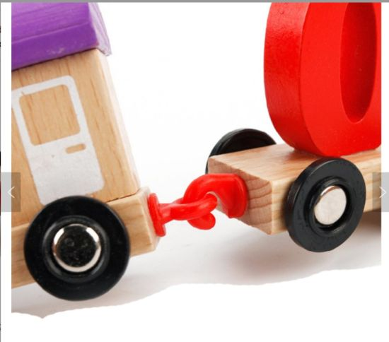 Digital Wisdom Brain Training Kids Magnetic Train Set Wooden Toys