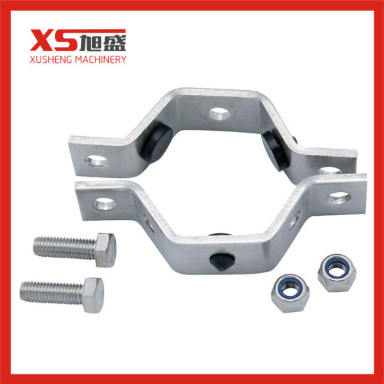Sanitation Stainless Steel Pipe Holder with Silicone Gasket