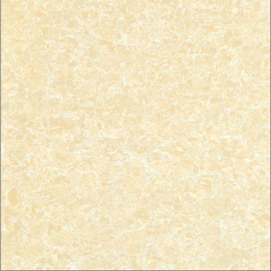 Popular 600*600mm Yellow Pulati Design Unglazed Polished Double Loading Porcelain Floor Tile