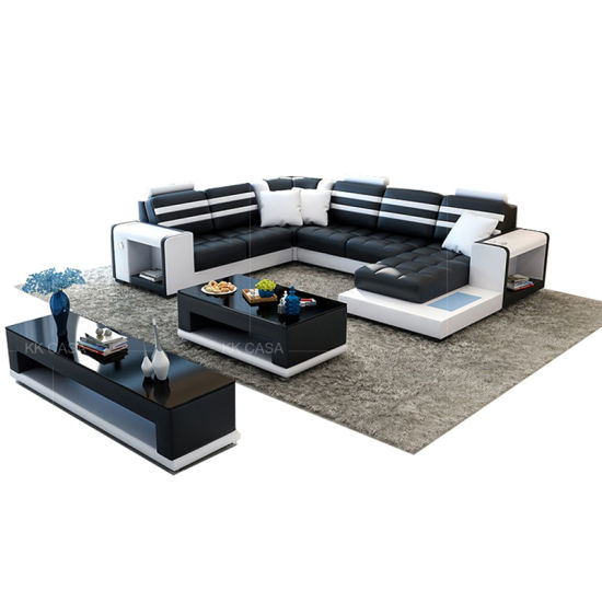 China Fashion Family Living Room Cheap Discount Italian Leather ...