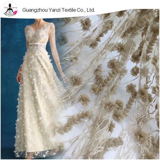 8333449721415 China Handwork 3D Flower Embroidery Tulle Mesh Lace Fabric - China ...