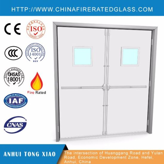 China Exterior Or Interior Steel Double Fire Rated Doors China