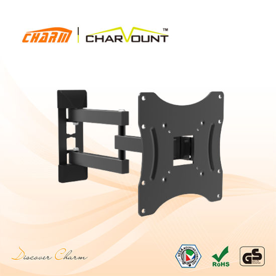 TV Wall Mount Bracket Full Motion Dual Articulating Arm for Most 17-42 Inch (CT-LCD-T108LM)