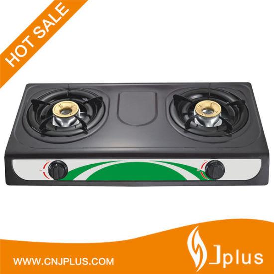 Double Burner Iron Burner Popular Gas Stove Cooker (JP-GC206TS)