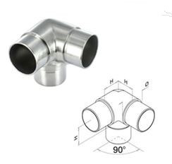 Handrail Fitting / Balustrade Fitting / Flush Joiner / Stainless Steel Flush Elbow pictures & photos