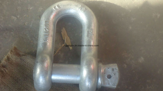 Cheap HDG Us Drop Forged Marine D Type Lifting Shackle G2150 with Safety Bolt Pin pictures & photos