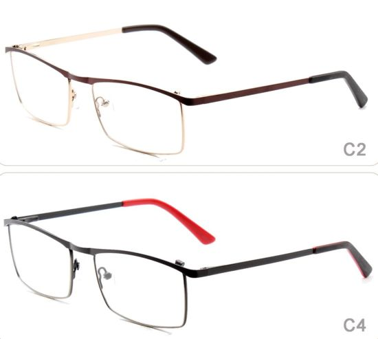 online ready stock stainless steel eyeglass frame italy designer prescription glasses types of spectacles eyewear with square frame - Eyeglass Frames Online