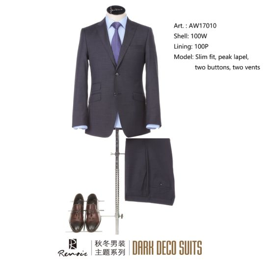 OEM 2 Piece Peak Lapel Slim Fit Men's Business Suit