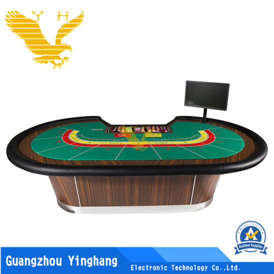 Deluxe Poker Table for Baccarat Gambling Game