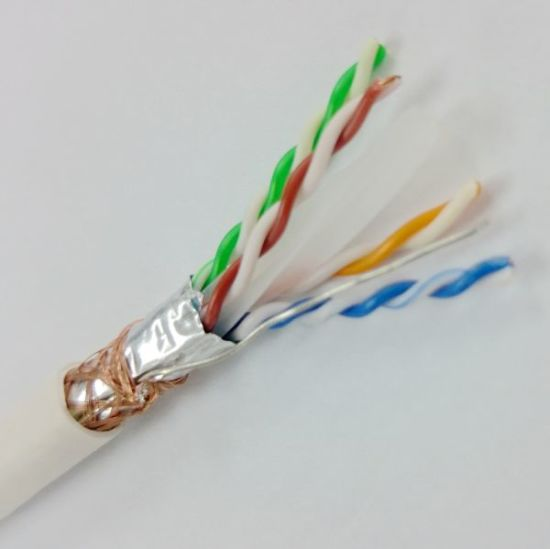 Double Shielding Cat 6 SFTP Ethernet Cable 23AWG Bare Copper Conductor (ERS-1603259) pictures & photos