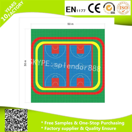 PP Floor Interlock Anti Static Interlocking Floor for Basketball Court pictures & photos