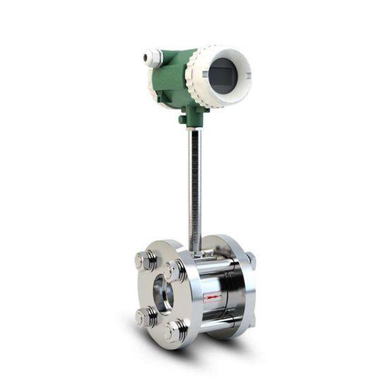 Battery Power Analog Gas Air Vortex Flow Meter Digital