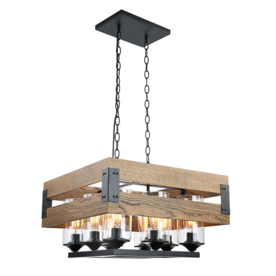 Interior Vintage Lighting Wood Pendant Lamp