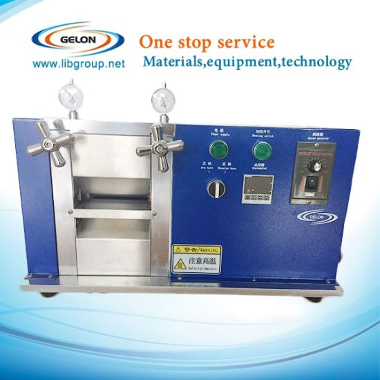Compact Small Roll Pressing Machine for Lithium Ion Battery Materials pictures & photos