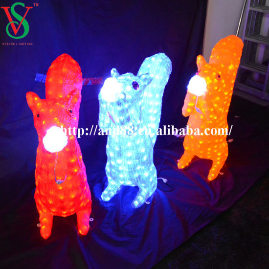 3D Motif Acrylic Squirrel Lights pictures & photos