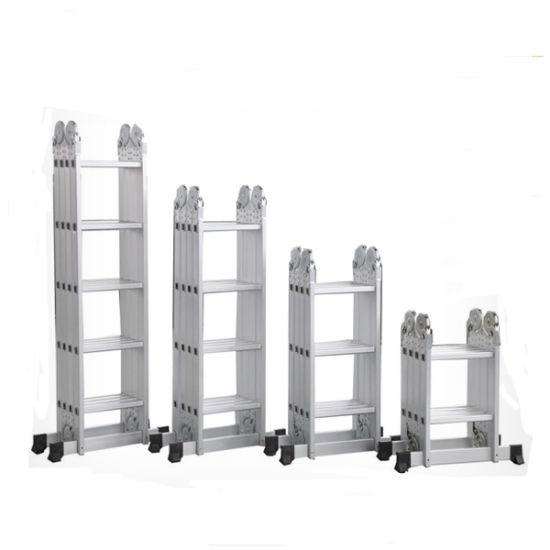Extendable Aluminium Multi-Purpose Ladder 4X4 pictures & photos