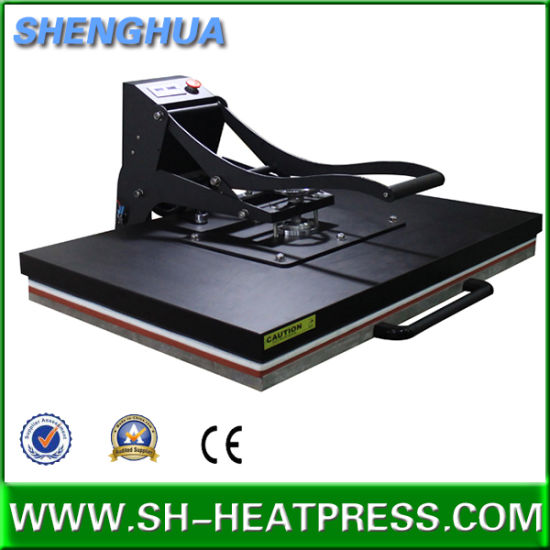 Ce Approval Manual Big Size Heat Press Machine 60X80cm 60X100cm 70X100cm pictures & photos