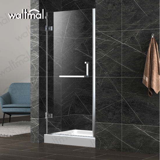 China Cheap Glass Stainless Steel Hinges Frameless Two Shower Doors
