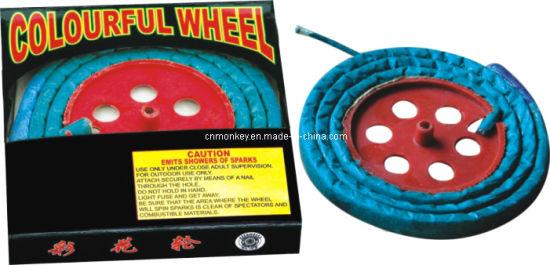 Colourful Wheel Novelties Fire Works