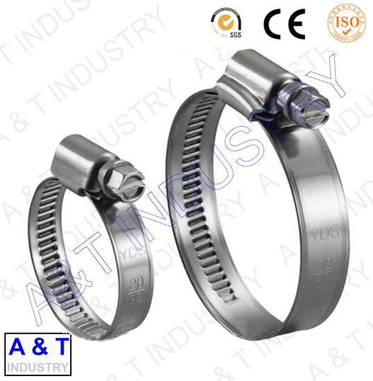 China German Type Hose Clamp Hose Clip Worm Drive Hose Clamp China
