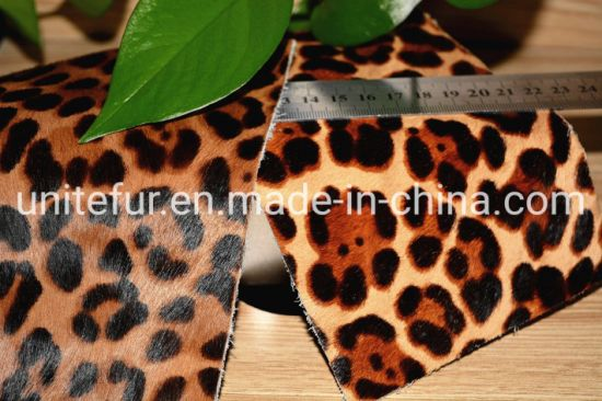16043cattle Fur Skin with Hair for Top Grade Fashion Women Shoes Slippers Boots Genuine Leather Shoes Raw Materials