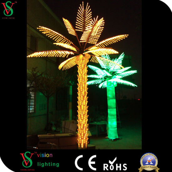china 220v outdoor lighting led artificial palm tree china