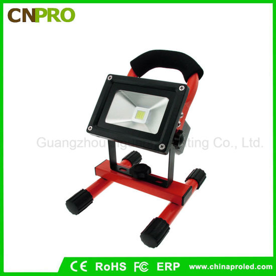 Portable 10W COB Type Super Bright LED Work Light Rechargeable Flood Lamp pictures & photos