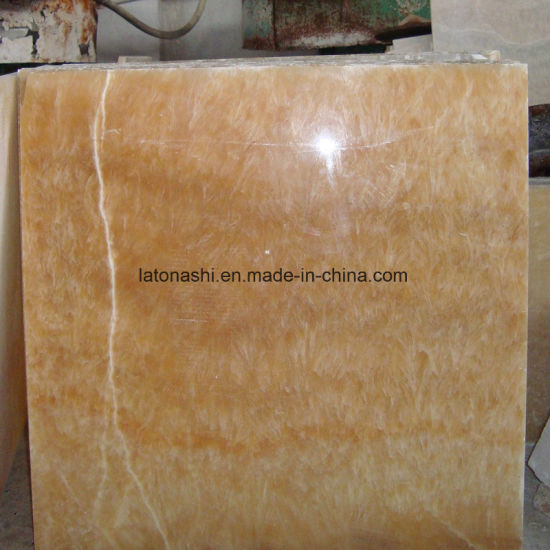 Honey Yellow Onyx Marble Tiles For Floor Wall