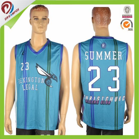 Sublimated Custom Wholesales Design Colour Printing Basketball Jerseys Customized Basketball Uniform pictures & photos
